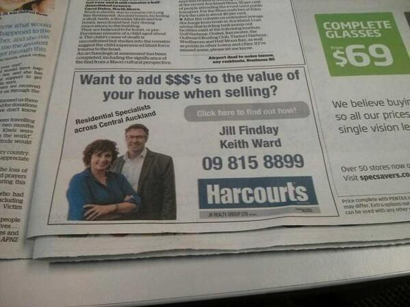 Print Ad with Click Here! – FAIL