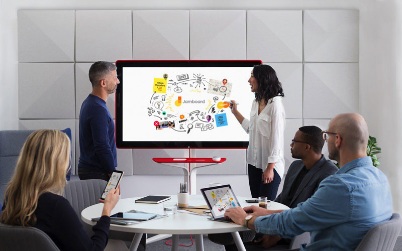Google Announces Jamboard, a digital whiteboard for offices!